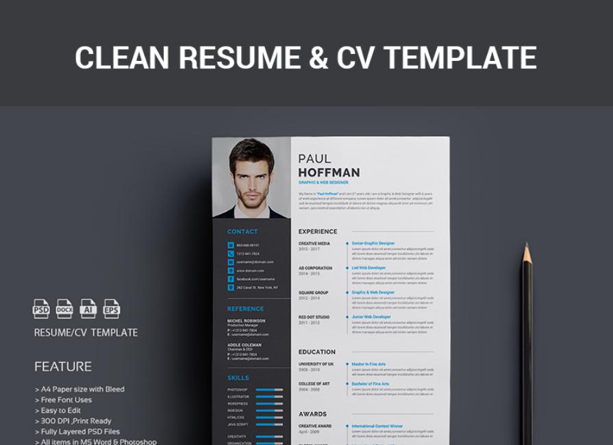 40 best 2018s creative resumecv templates printable doc resume paul hoffman resume template yelopaper Gallery