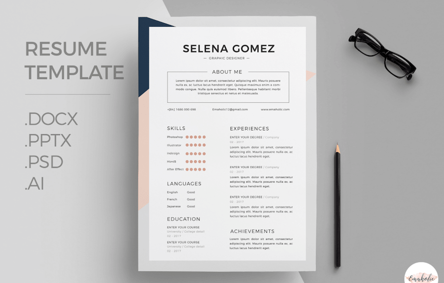 50 Best Resume Templates For Word That Look Like Photoshop