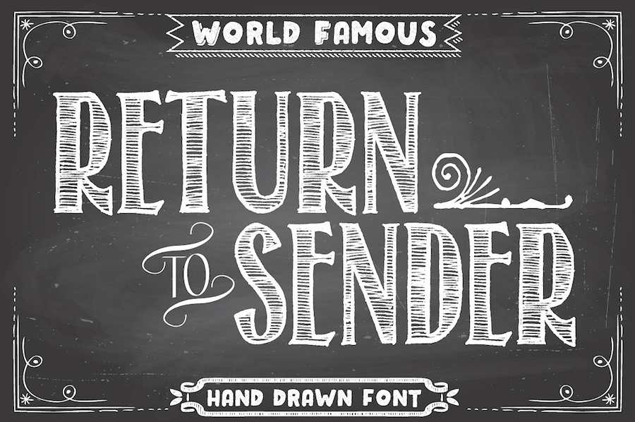 35 Best Examples of Chalk Hand Lettering Fonts 2017