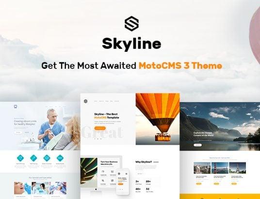 Skyline Business Website Template - featured