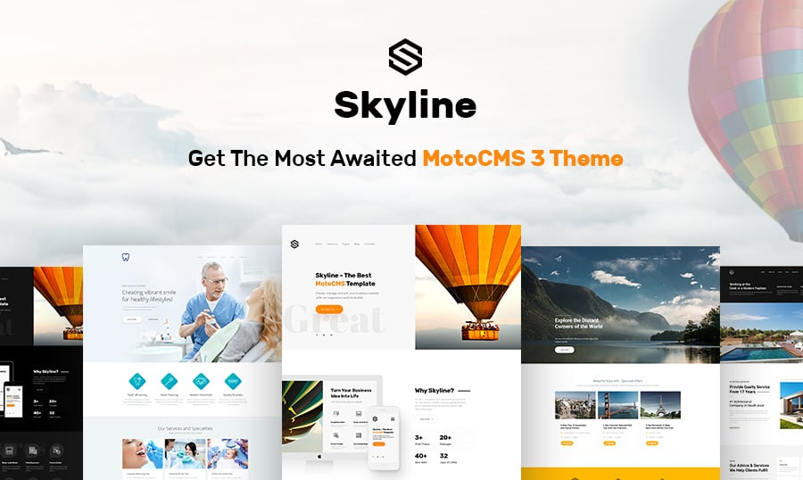 Why pre order skyline business website template from motocms skyline business website template featured accmission Gallery