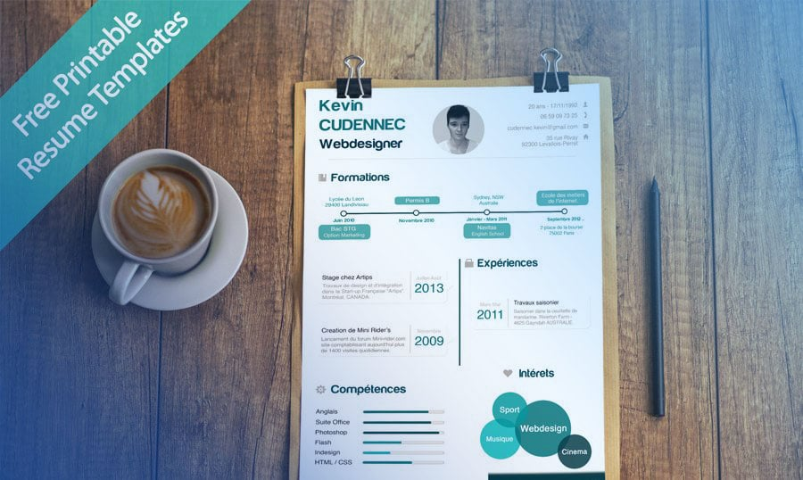 40 free printable resume templates 2018 to get a dream job - Free Resume Templates 2017
