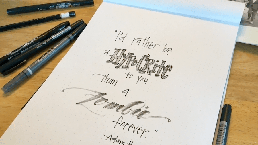 hand drawn typography tutorial