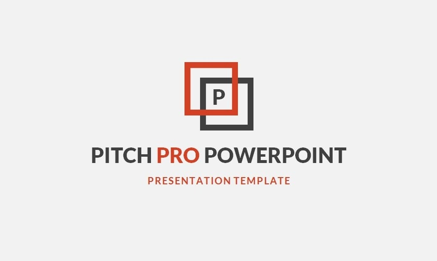 pitch pro – a free powerpoint template for business, Modern powerpoint