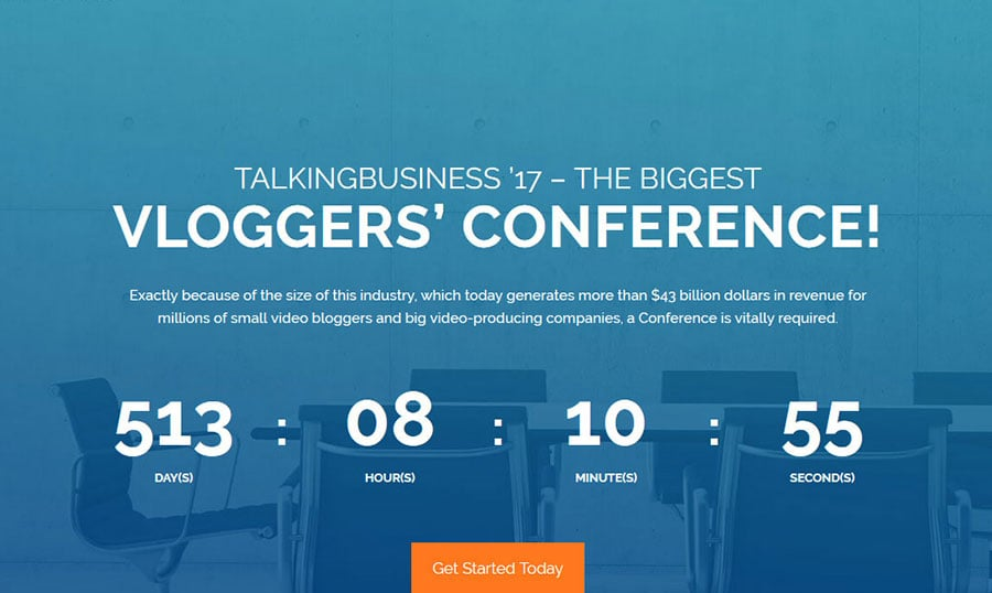 wordpress conference theme