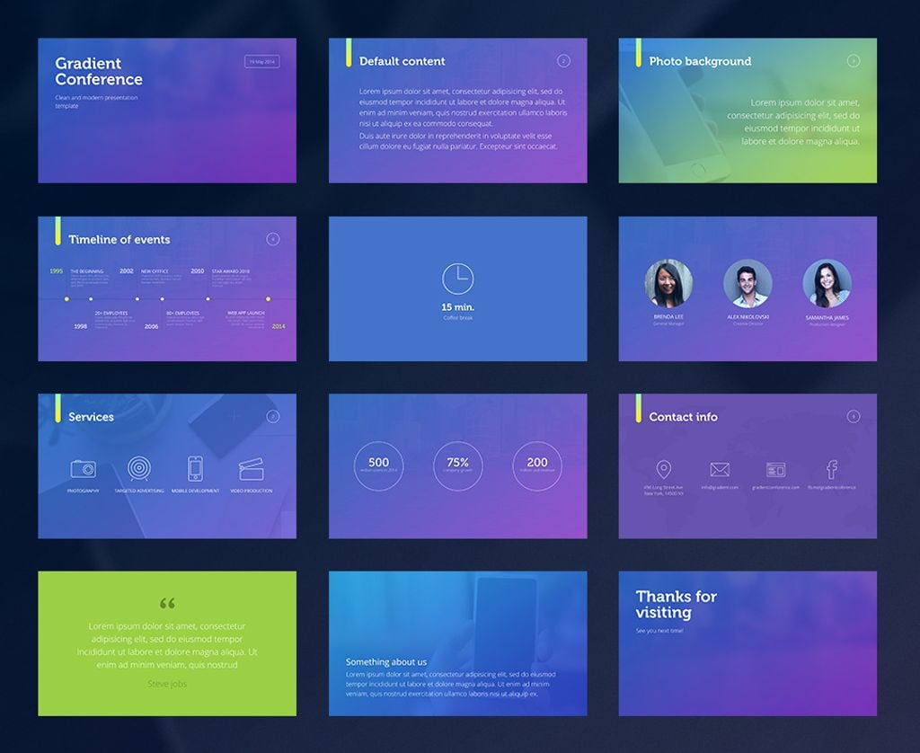 gradient presentation template