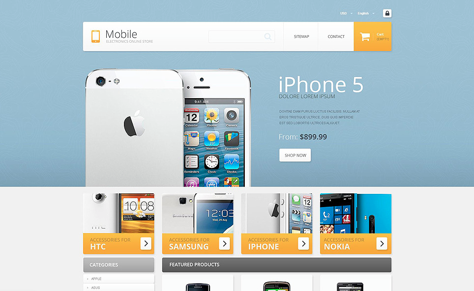 Mobile - Electronics Store PrestaShop Theme