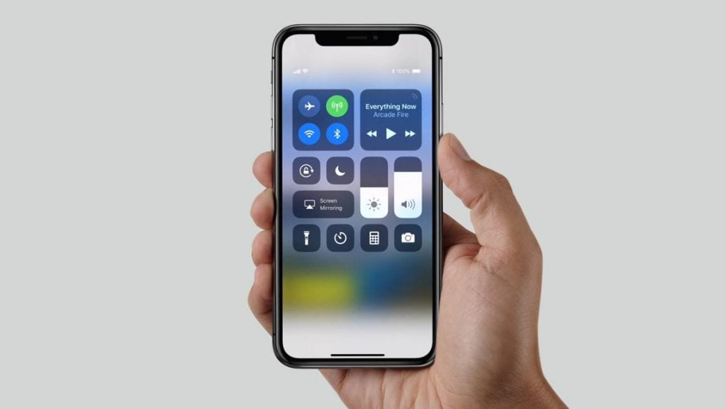 This is how the iPhone X looks