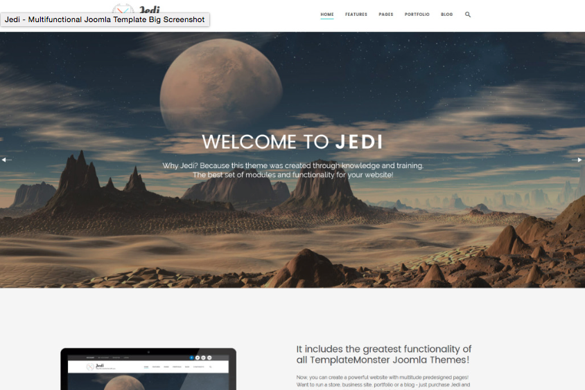 Jedi Joomla Theme