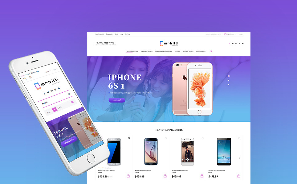 Mobilli - Mobile Phones & Accessories PrestaShop Theme