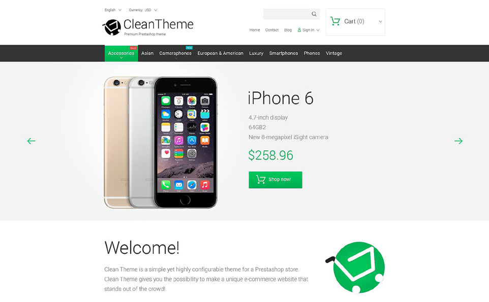 Clean Theme PrestaShop Theme