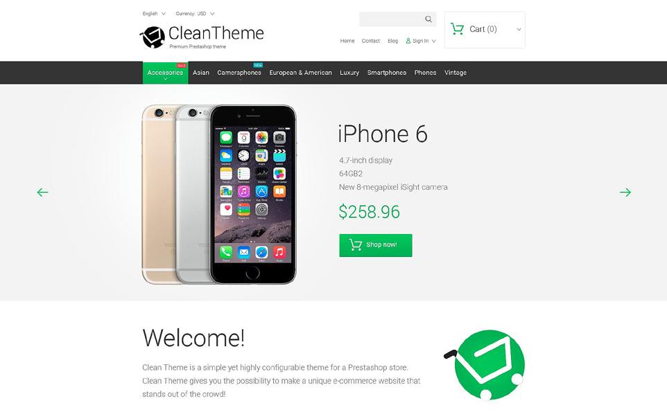 Clean Theme PrestaShop Theme