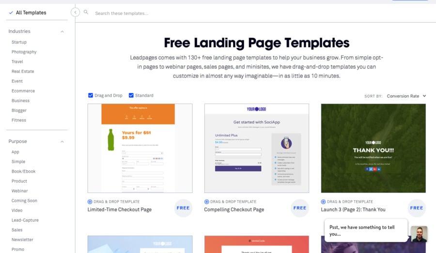 Landing Page Builder Comparison - MotoCMS vs Leadpages