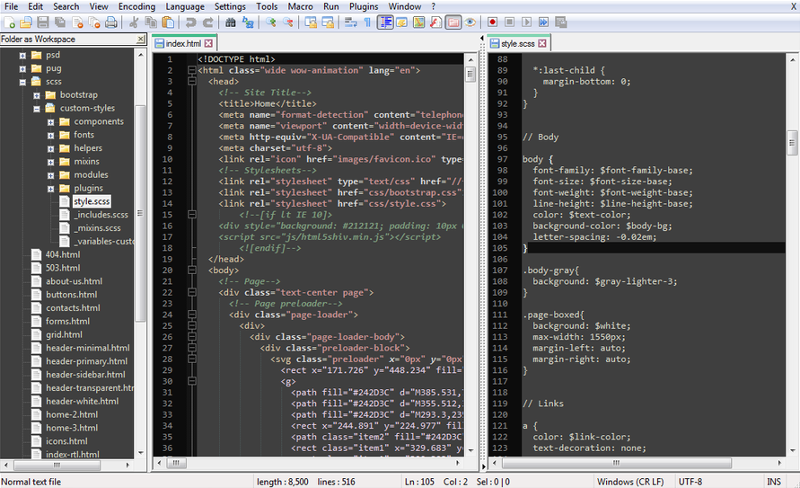 text editor for programming
