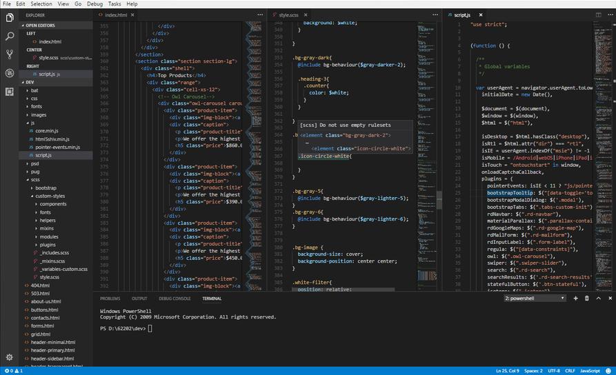 web code editor