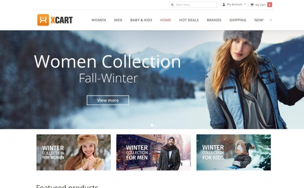 Fashion House X-Cart Template