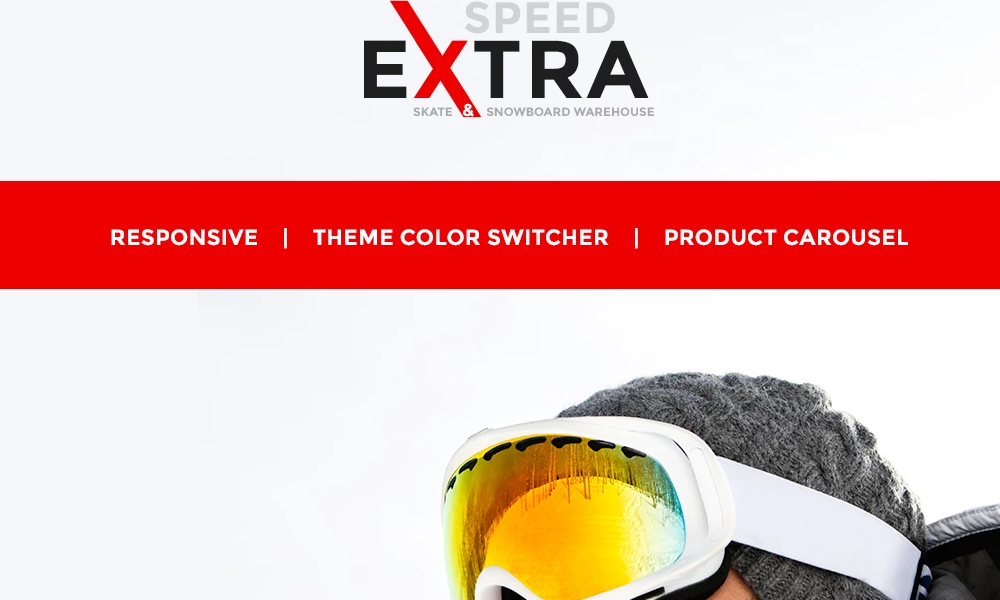 Extra Speed – Snowboarding Responsive OpenCart Template