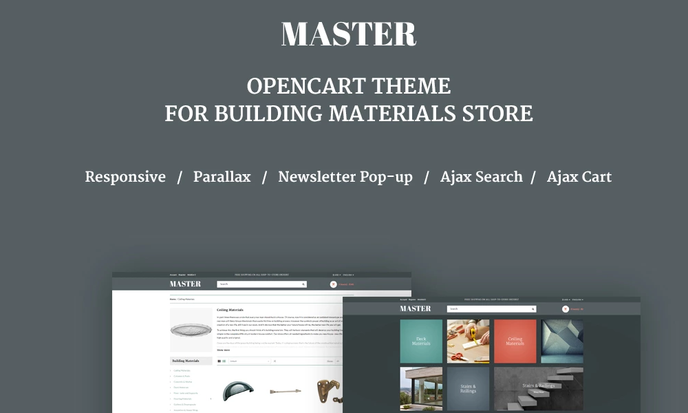 Master – Building Materials Responsive OpenCart Template