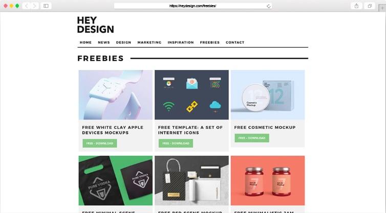 Hey Design | Design Freebies