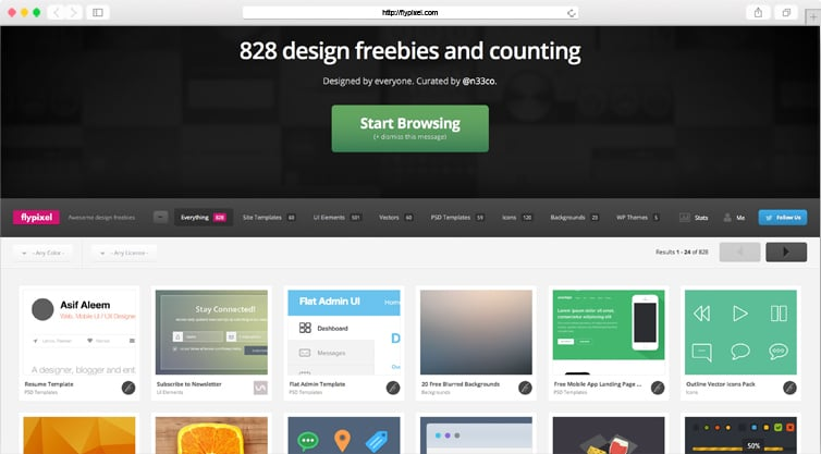 FlyPixel | 828 Design Freebies and Counting