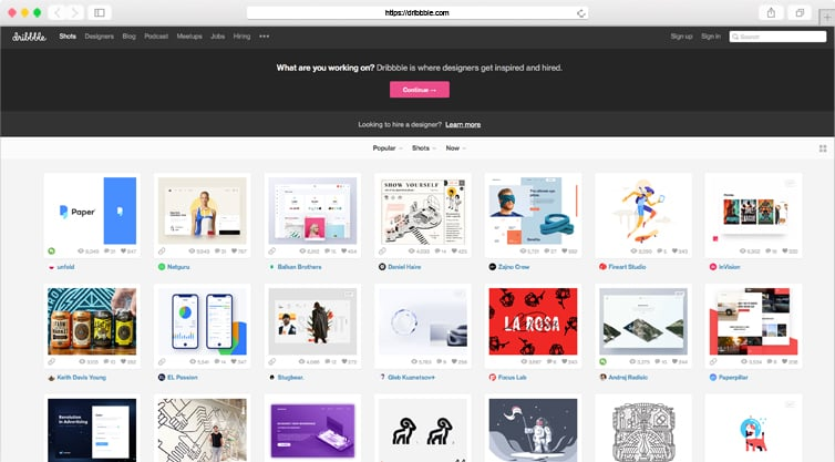 Dribbble | Show and Tell for Designers