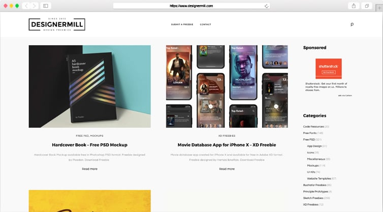 DesignerMill | Collection of Best Free Design Resources