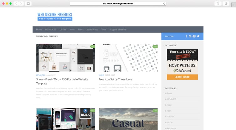 WebDesignFreebies | Free Resources for Web-Designers