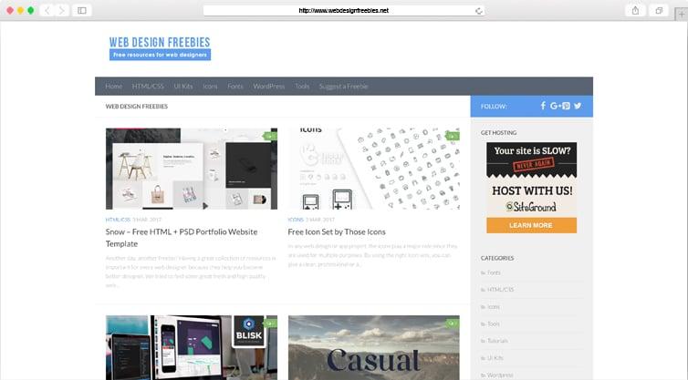 WebDesignFreebies | Free Resources for Web-Designers