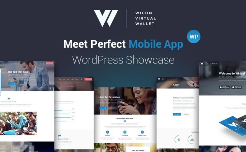 Perfect Mobile App WordPress Theme