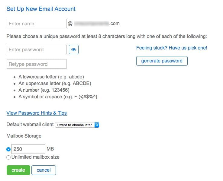 Set Up New Email Account