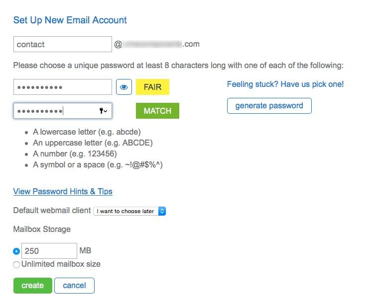 Set Up New Email Account 2