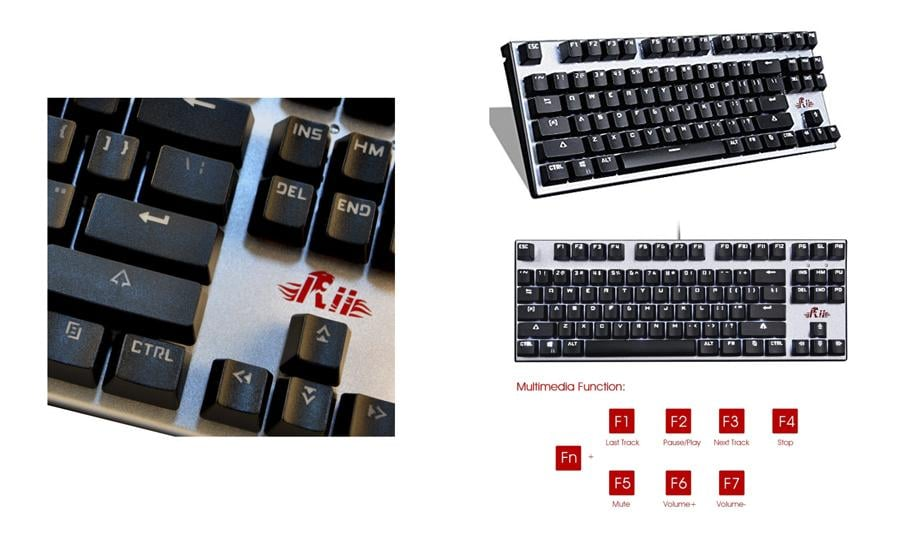 Gaming keyboard with Metal Cover