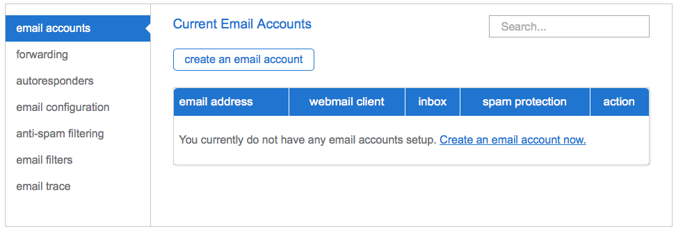 Current Email Accounts
