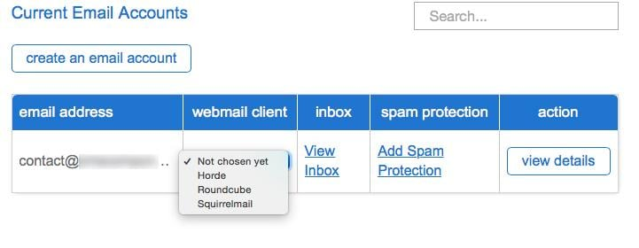 Current Email Accounts Editing