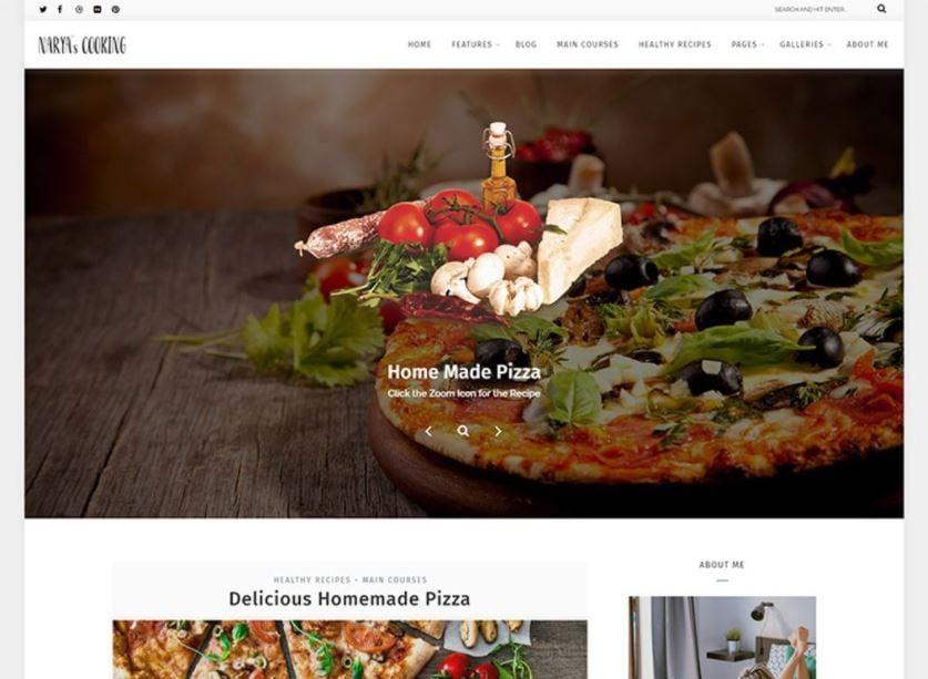 Food Blog For Cooks WordPress Theme