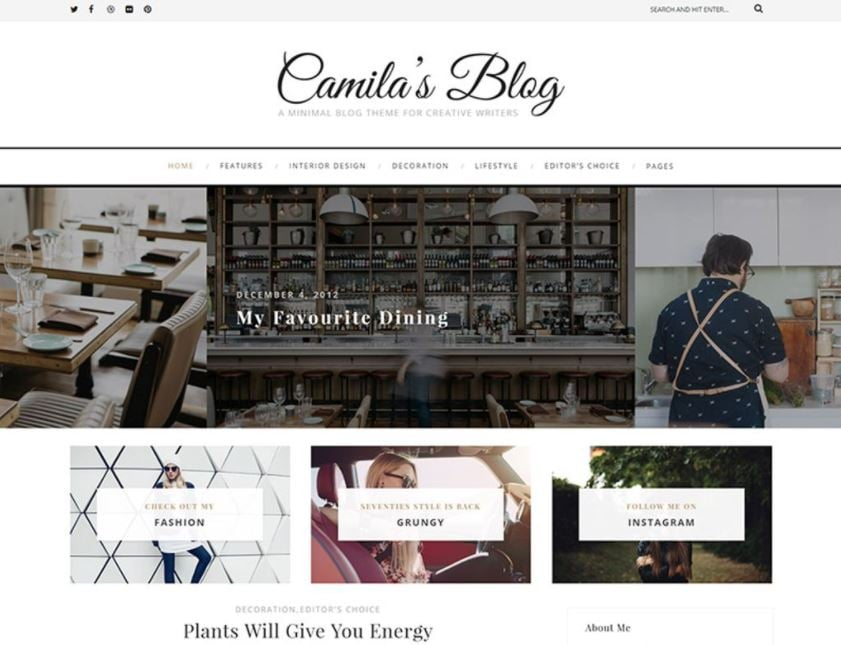 Minimal Blog WordPress Theme
