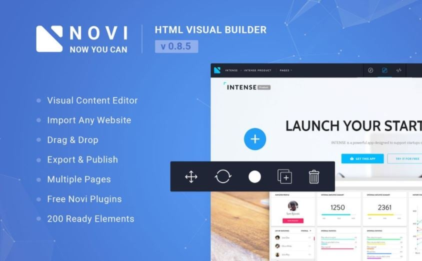 HTML Page Builder & Visual Content Editor JavaScript