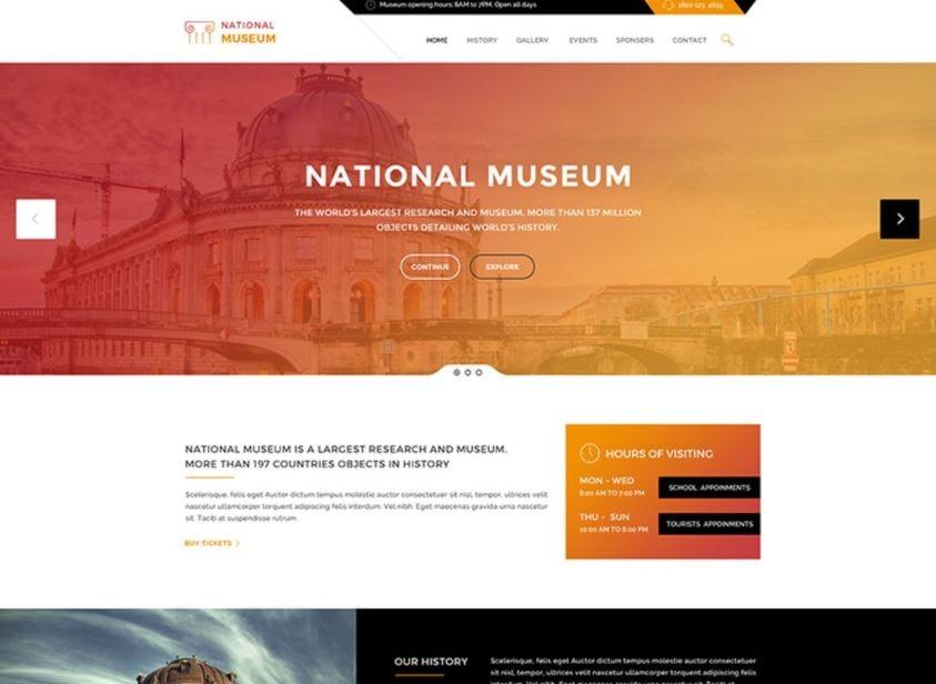 History & Art Gallery WordPress Theme