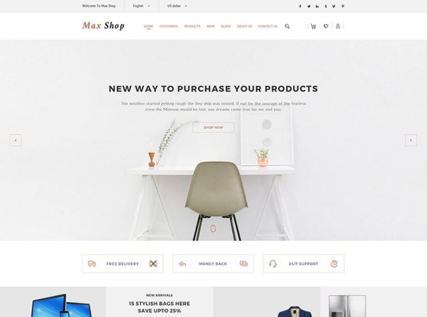 Max shop - WooCommerce Theme