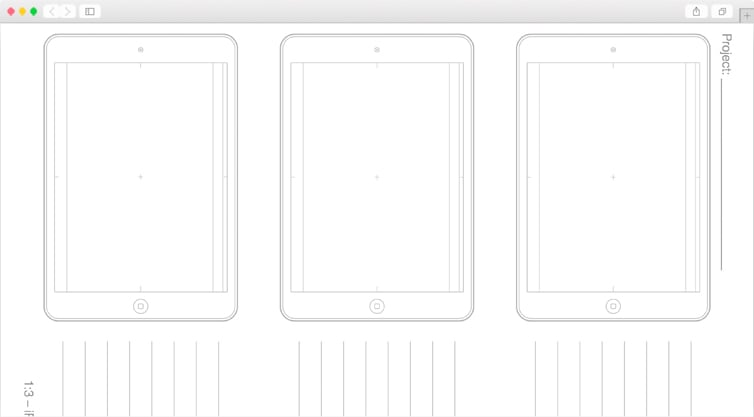 Dribbble | iPad Air Sketching Templates