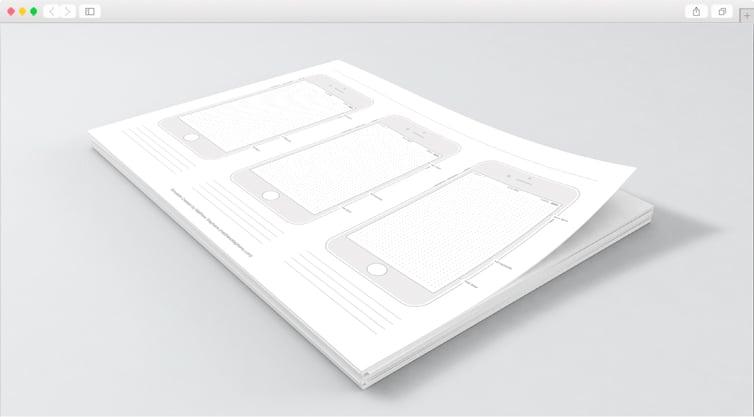 Dribbble   Free Printable iPhone 7 Templates (iOS 10)