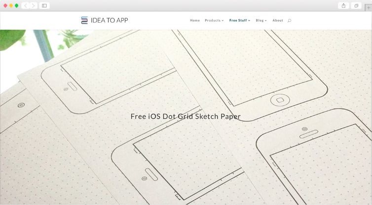 IdeaToApp   Free iOS Dot Grid Sketch Paper