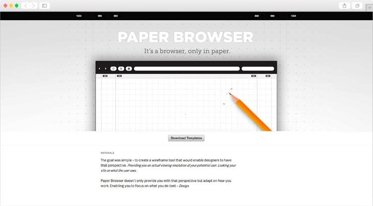Paper Browser | It's a browser, only in paper