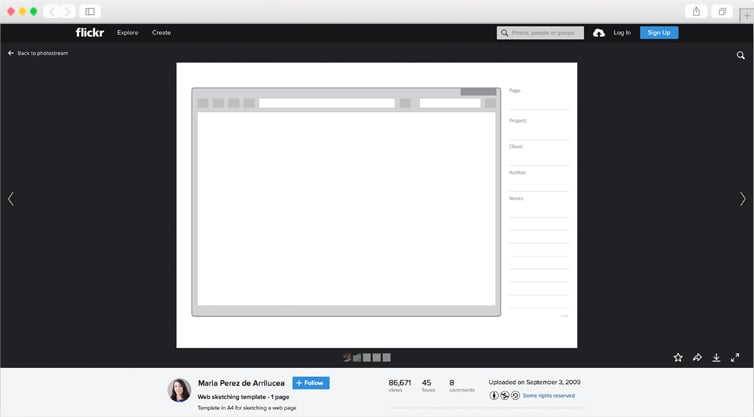 Web Sketching Template   Single Page