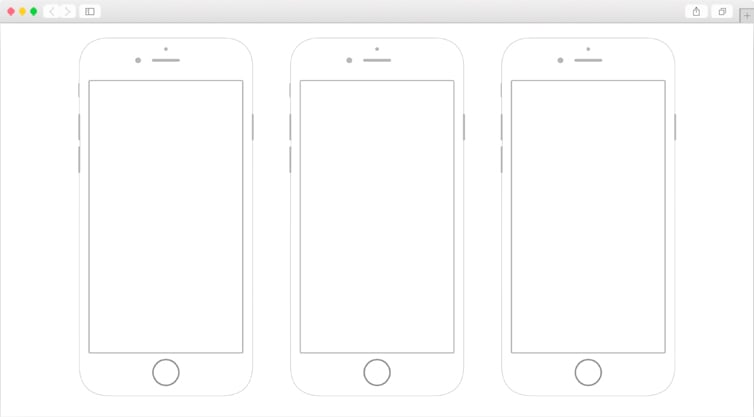 Dribbble | iPhone 6 Printable Wireframes