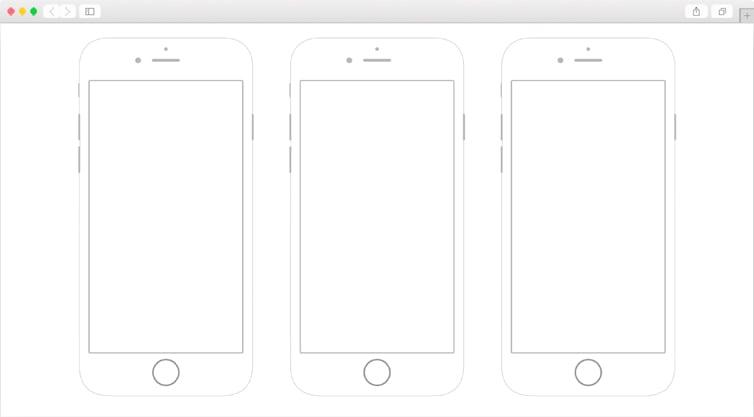 Dribbble   iPhone 6 Printable Wireframes