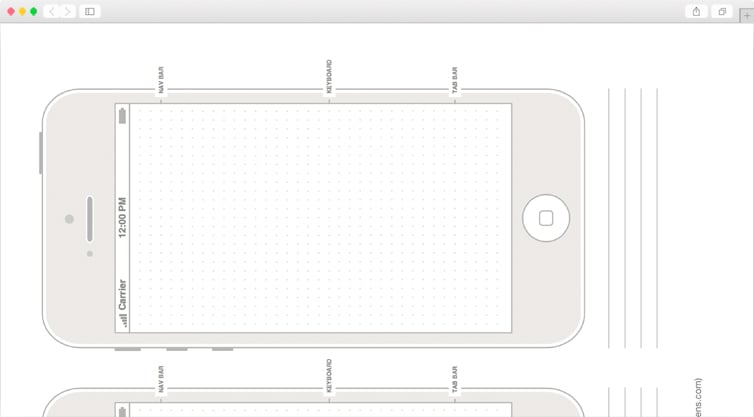 Dribbble | Free Printable iPhone 5, iPhone 5s, and iPhone 5c Templates