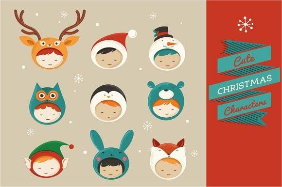 Bożonarodzeniowe projekty: postacie