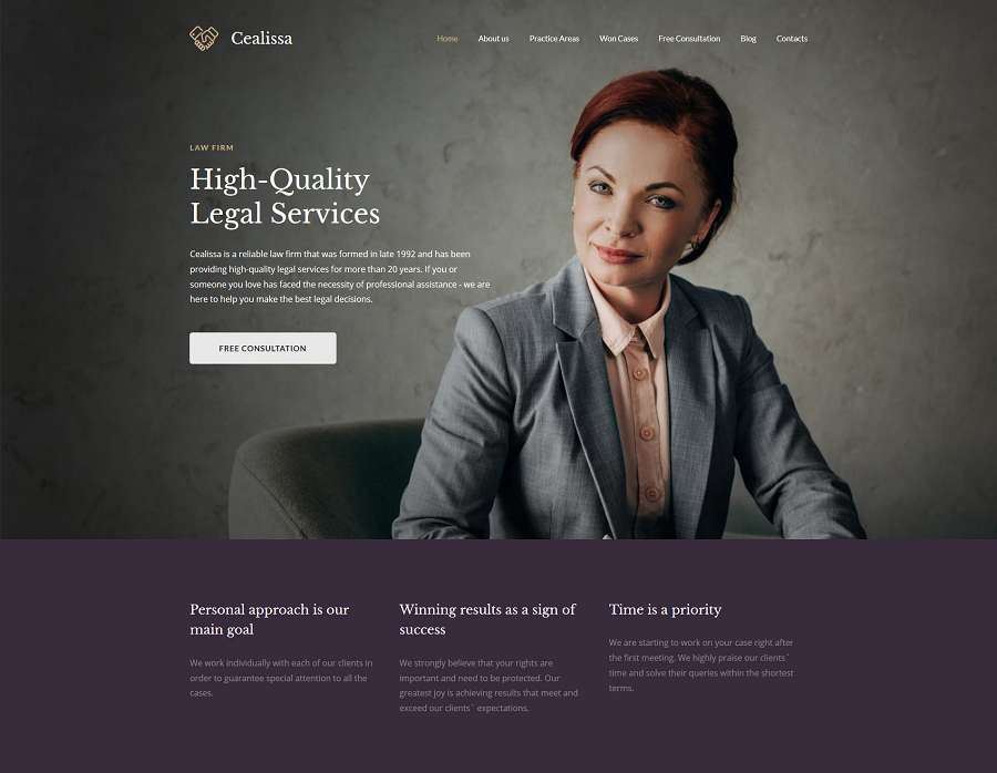 Attorney Premium MotoCMS 3 Template