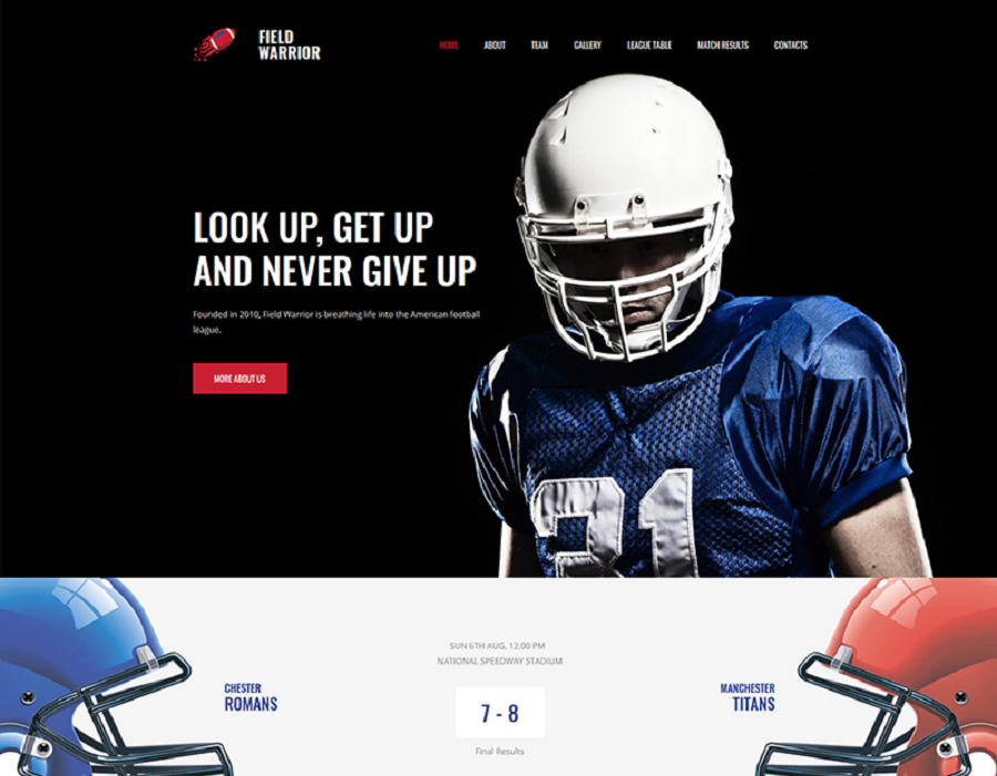 Football Premium MotoCMS 3 Template